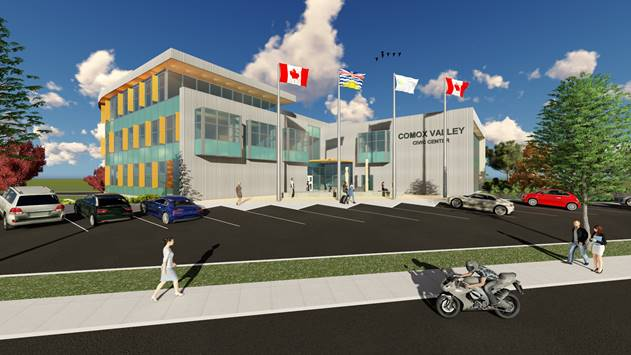 Comox Valley Regional District New Civic Center Office